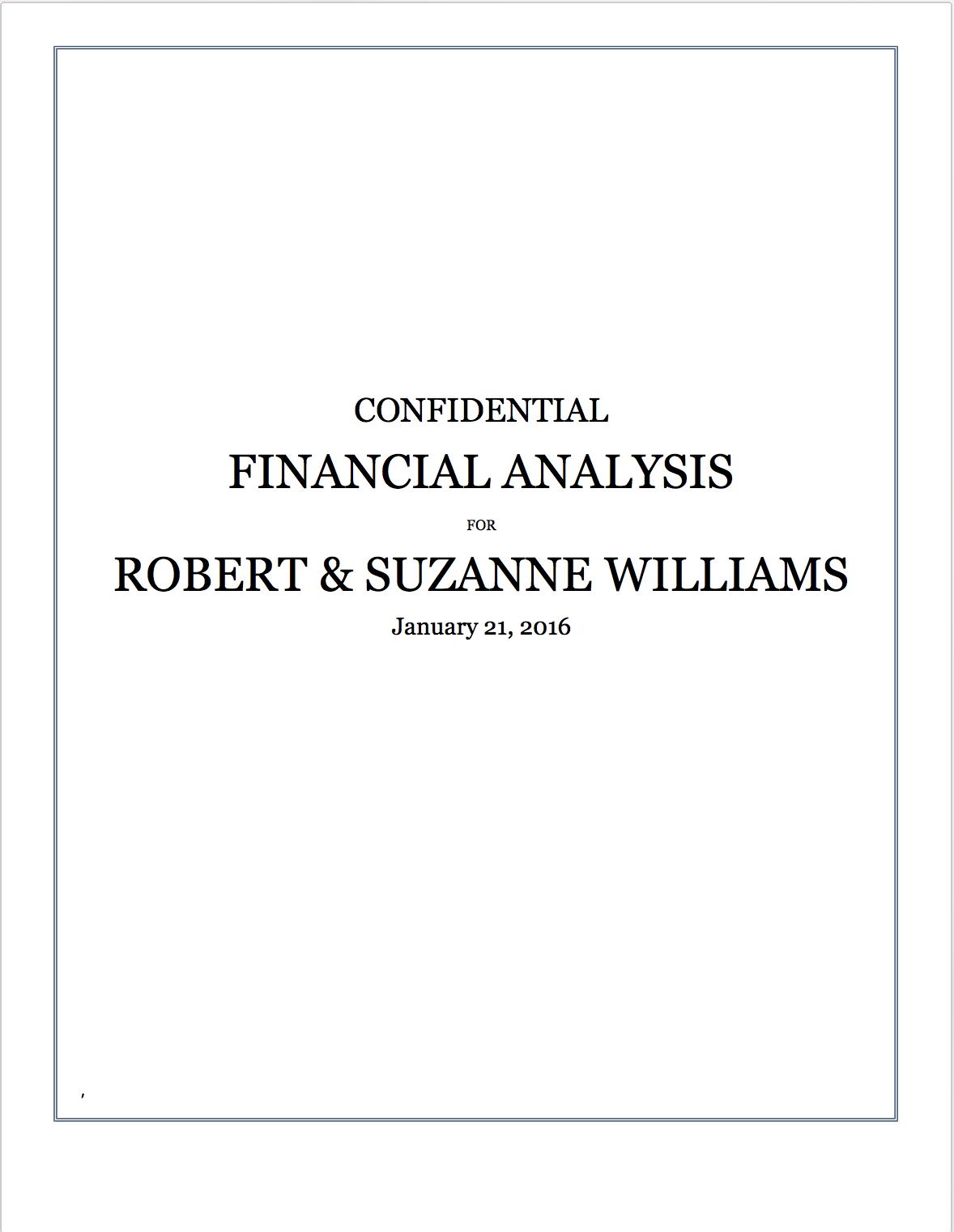 Retirement financial analysis