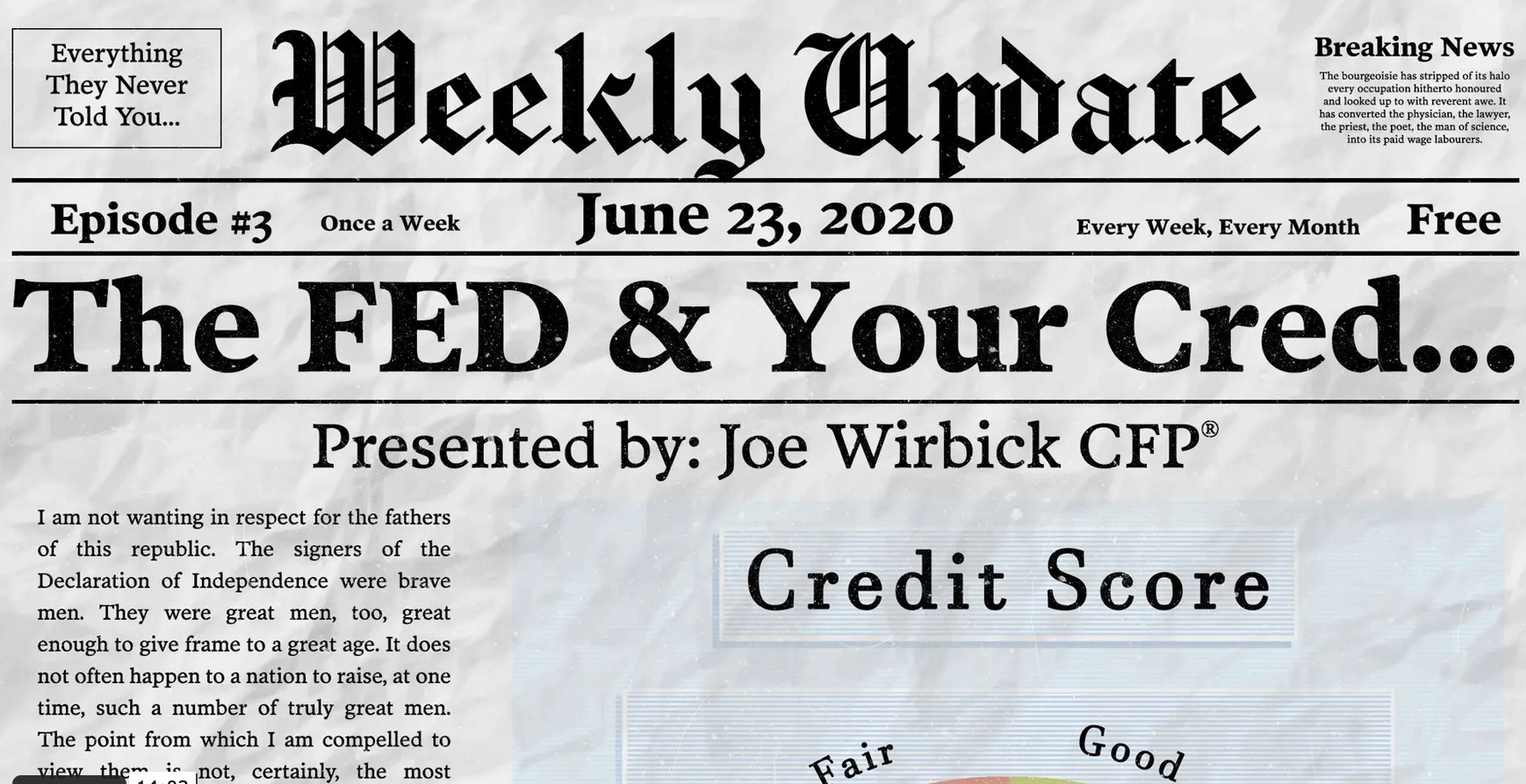 The Fed, Inflation, and Improving Your Credit Score Thumbnail