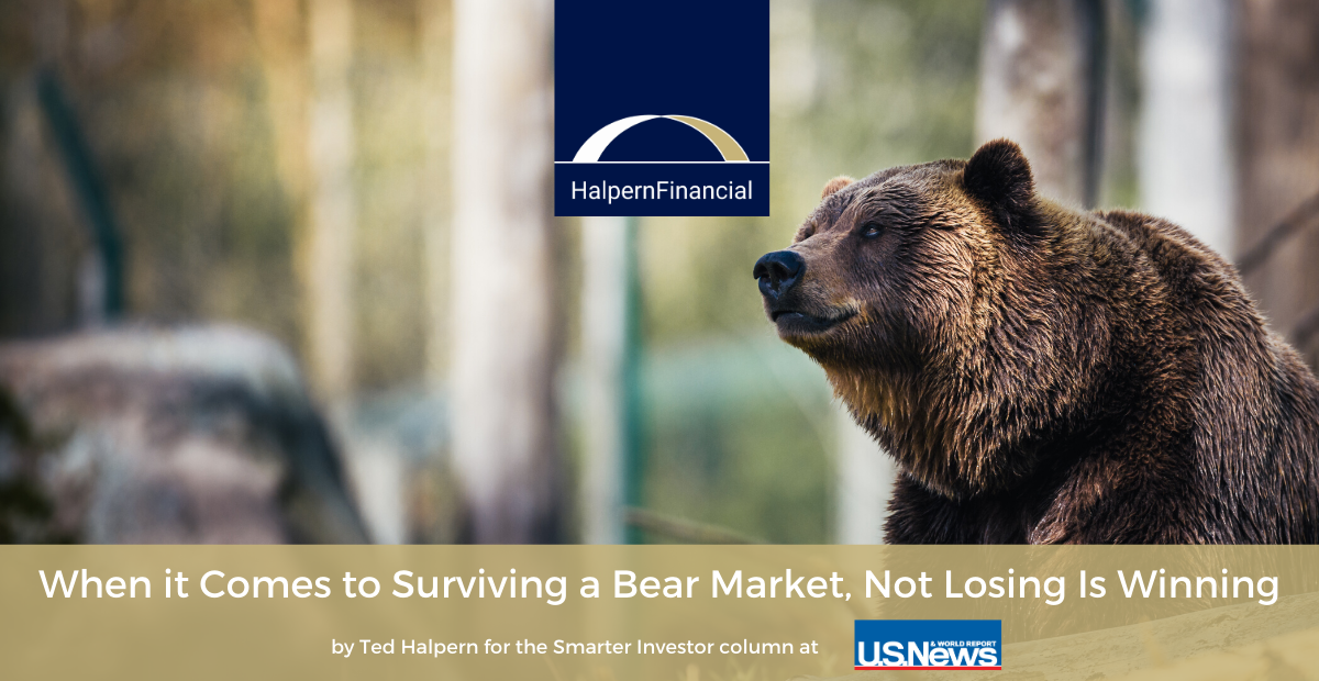 U.S. News & World Report: In Bear Markets, Not Losing is Winning Thumbnail