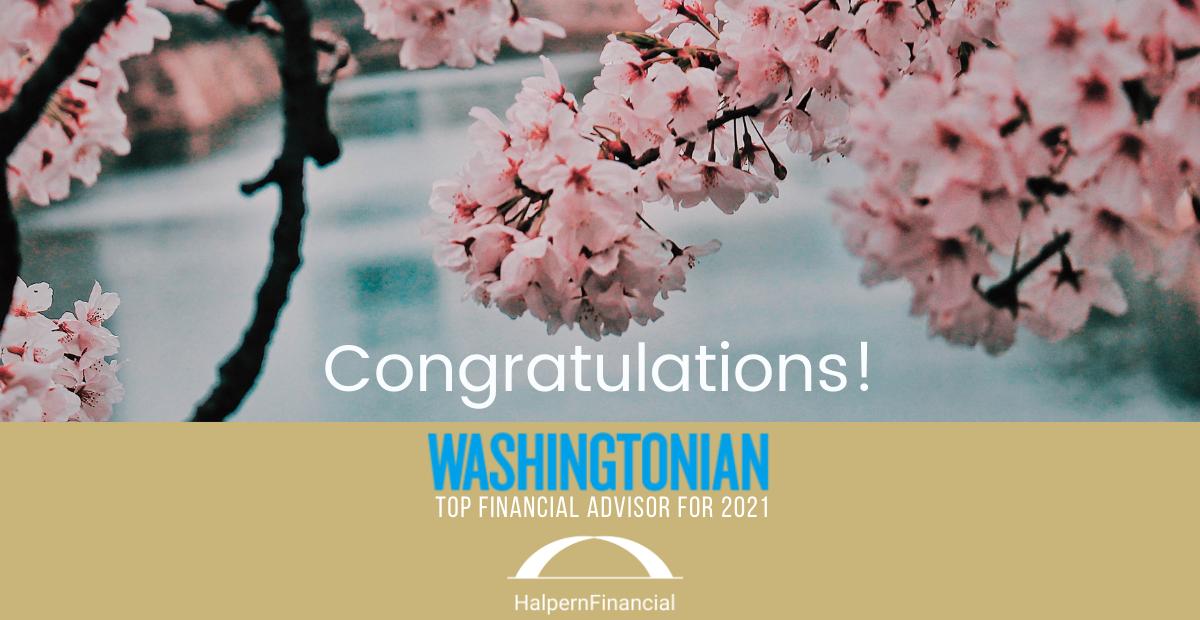Halpern Financial is a Washingtonian Top Financial Advisor Thumbnail