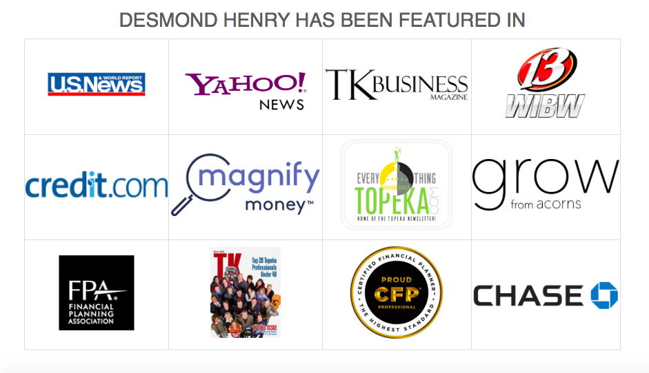 Desmond Henry, a financial advisor has been featured in several media publications