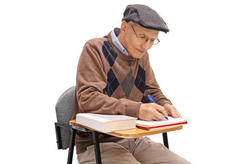 Retired Man Taking College Class