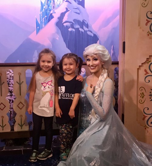 The Littles with Queen Elsa from Frozen