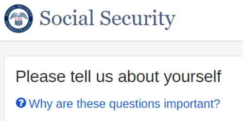 Social Security Verify Your Identity Step
