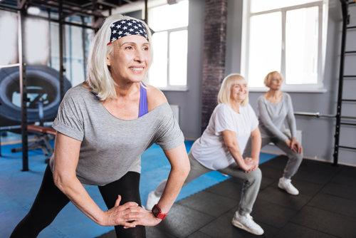 3 Retired Ladies Exercising