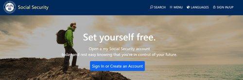 Social Security Website Homepage