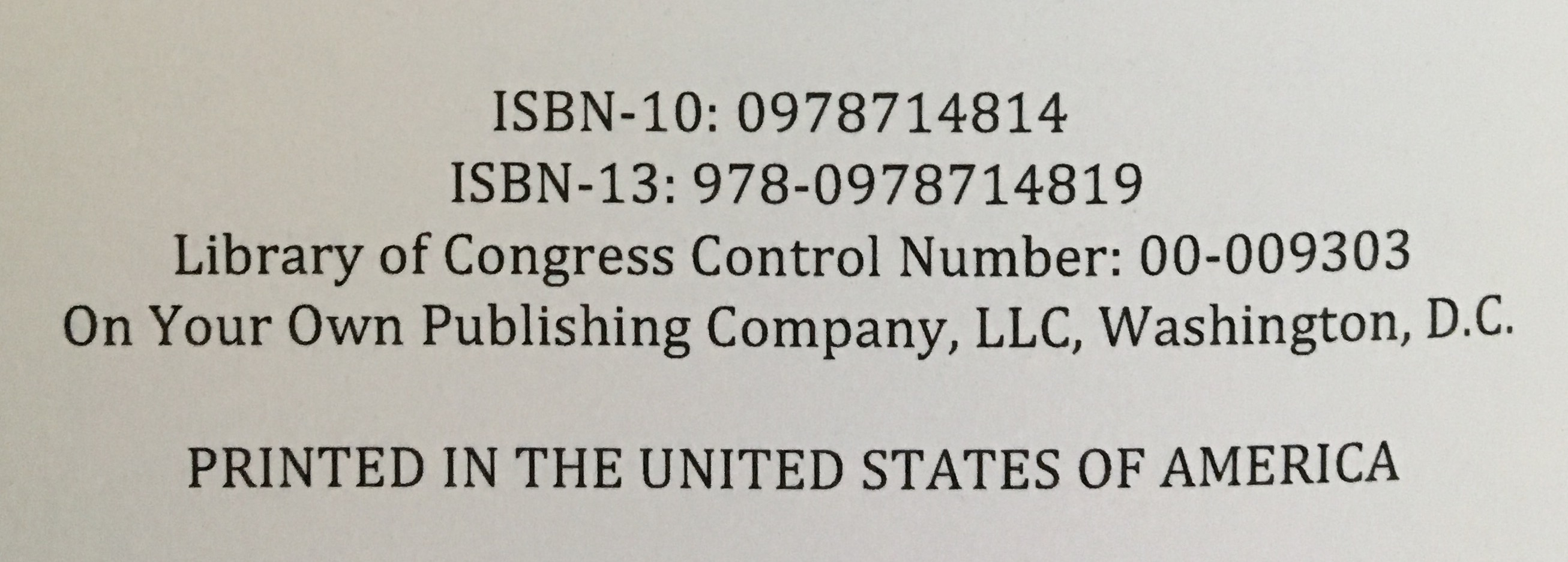 ISBN Number Example