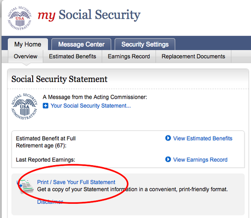 mySocialSecurity Screenshot
