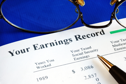 Social Security Earnings Record Statement