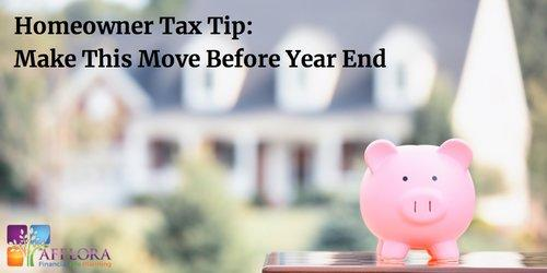 Homeowner Tax Tip: Make This Move Before Year End  Thumbnail