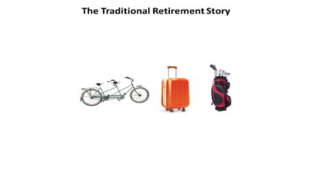 Machine generated alternative text: The Traditional Retirement Story