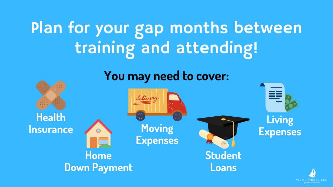 Plan for your gap months between training and attending! | WealthKeel