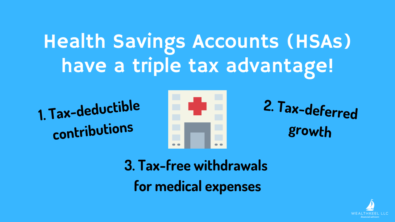 Health Savings Accounts (HSAs) have a triple tax advantage!