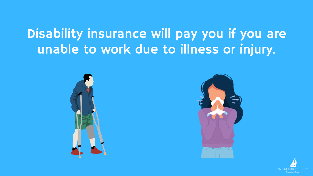Disability insurance will pay you if you are unable to work due to illness or injury | WealthKeel
