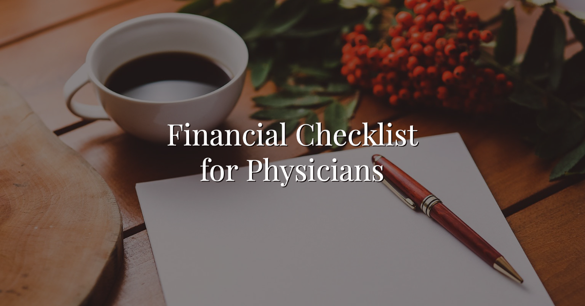 Financial Checklist for Physicians Thumbnail