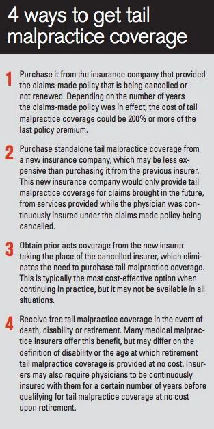 4 ways to get tail malpractice coverage | WealthKeel