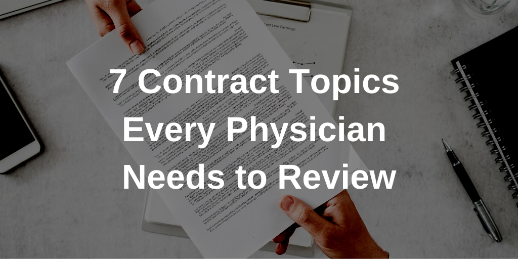 7 Contract Topics Every Physician Needs to Review Thumbnail