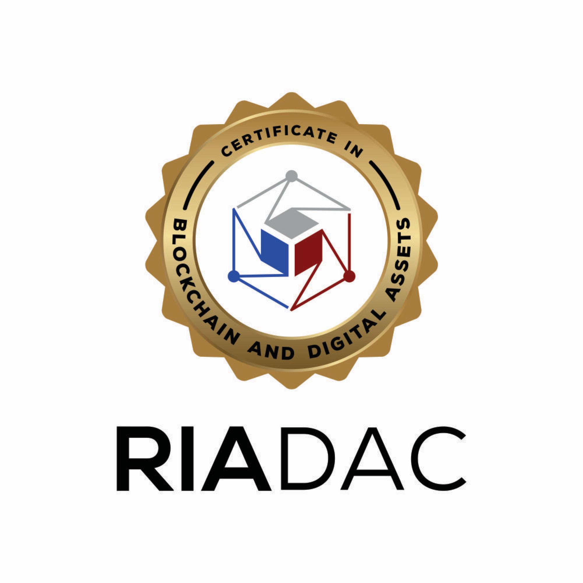 Digital Wealth - RIADAC Certificate in Blockchain and Digital Assets®