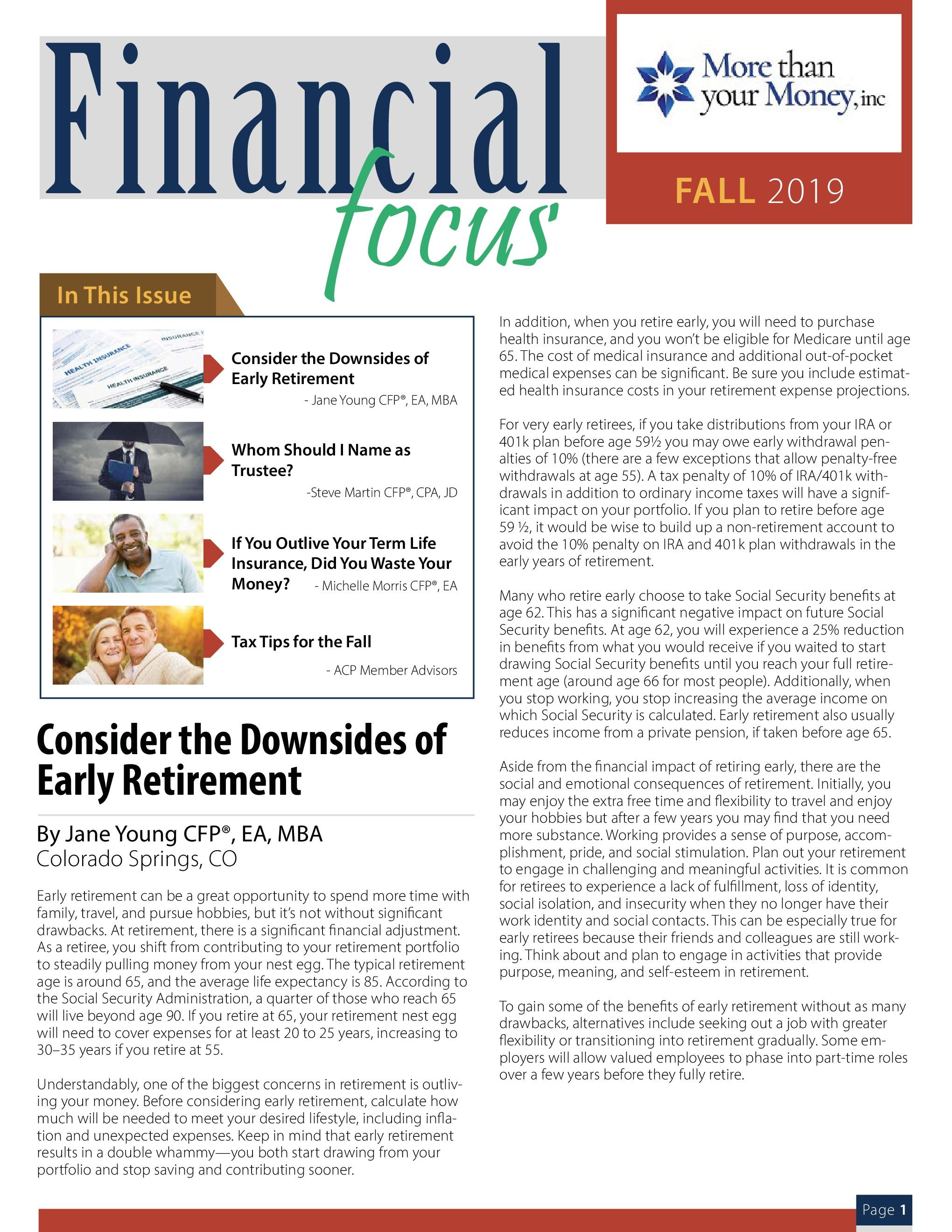 Financial Focus Fall 2019 Thumbnail