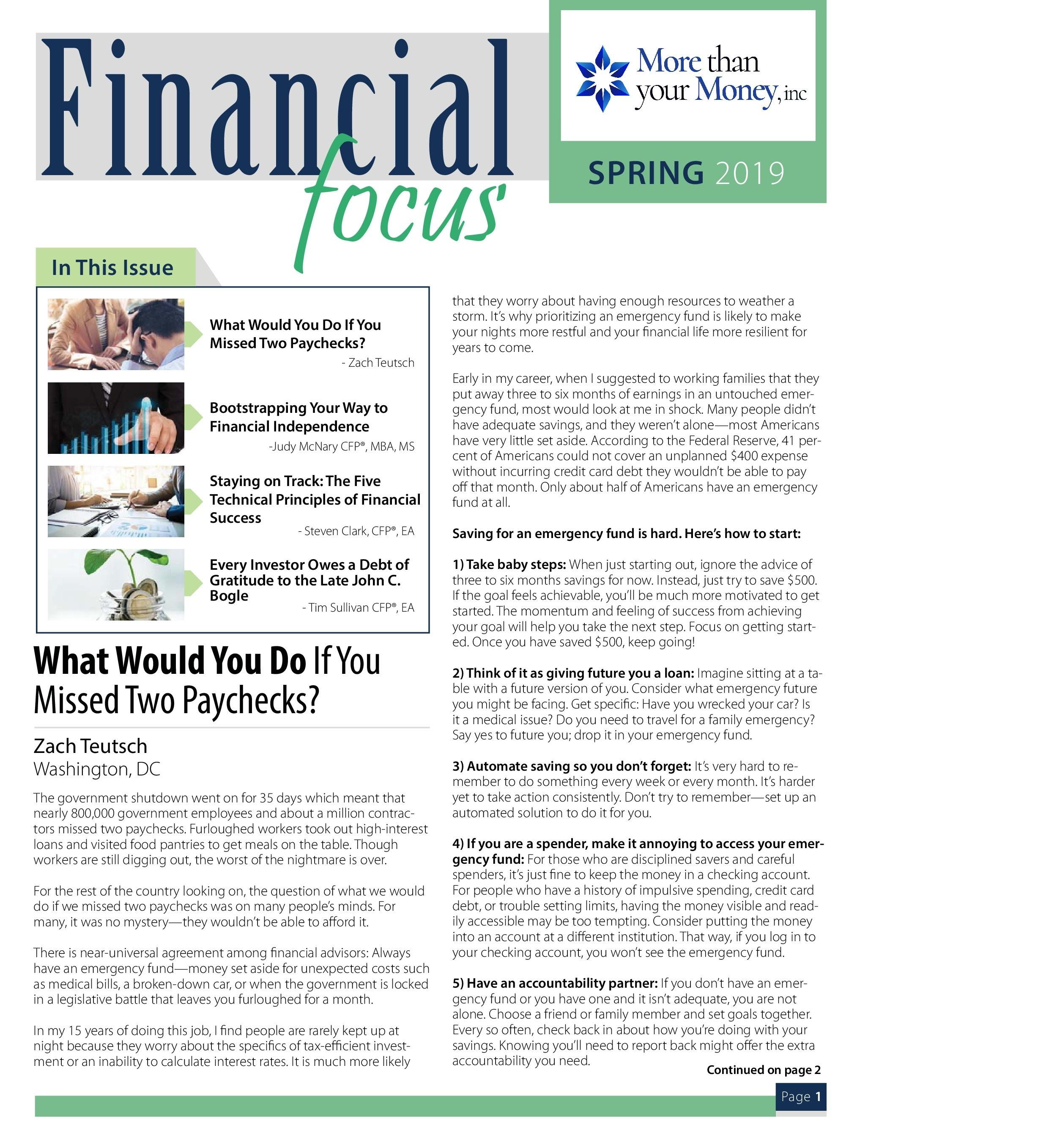 Financial Focus Spring 2019 Thumbnail