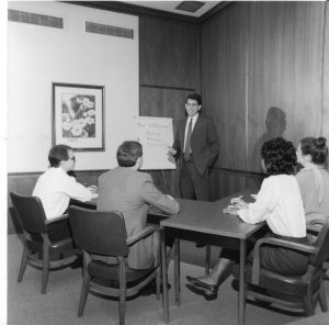 A young Kyle McDonald making a presentation in the early days of Argent.
