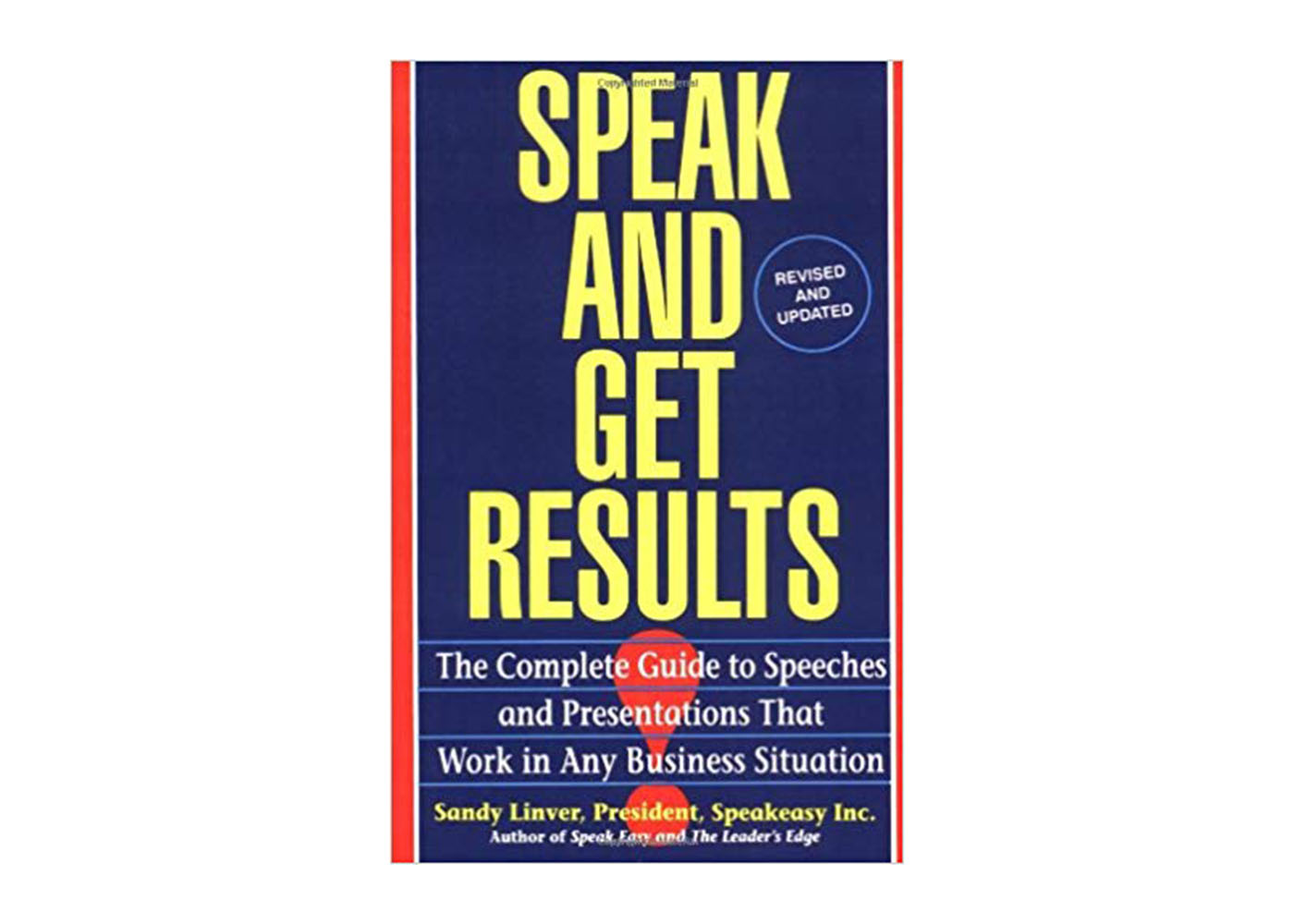 Speak and Get Results book