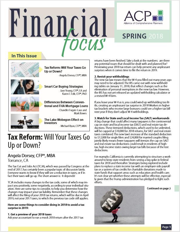 Financial Focus Spring 2018 Thumbnail