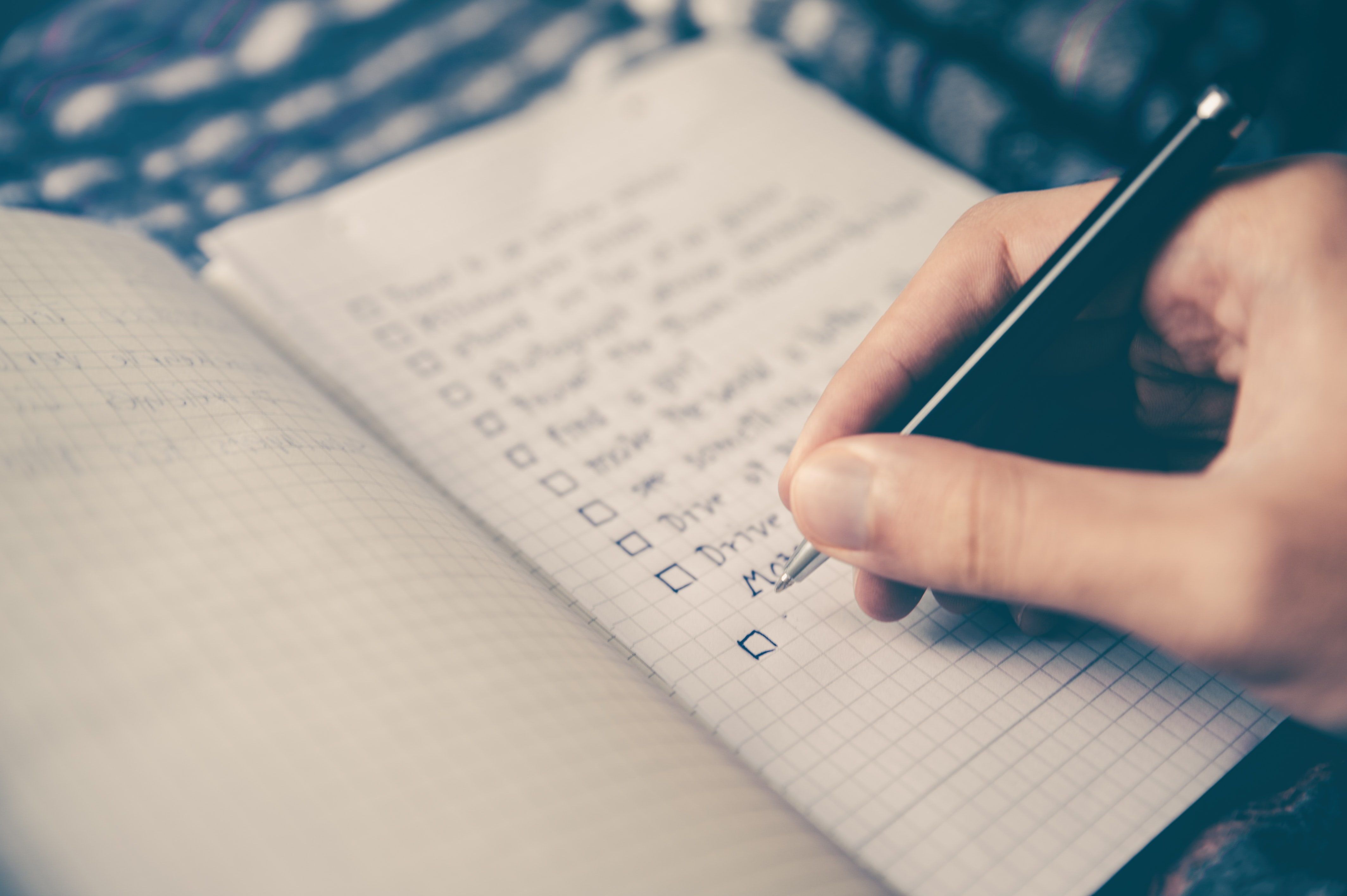 A checklist can help enable you to identify problems, make decisions, and feel organized.