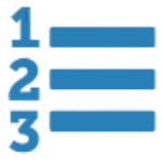numbered list icon