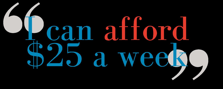 """""""I can afford $25 a week"""" - Stephen Fletcher"""