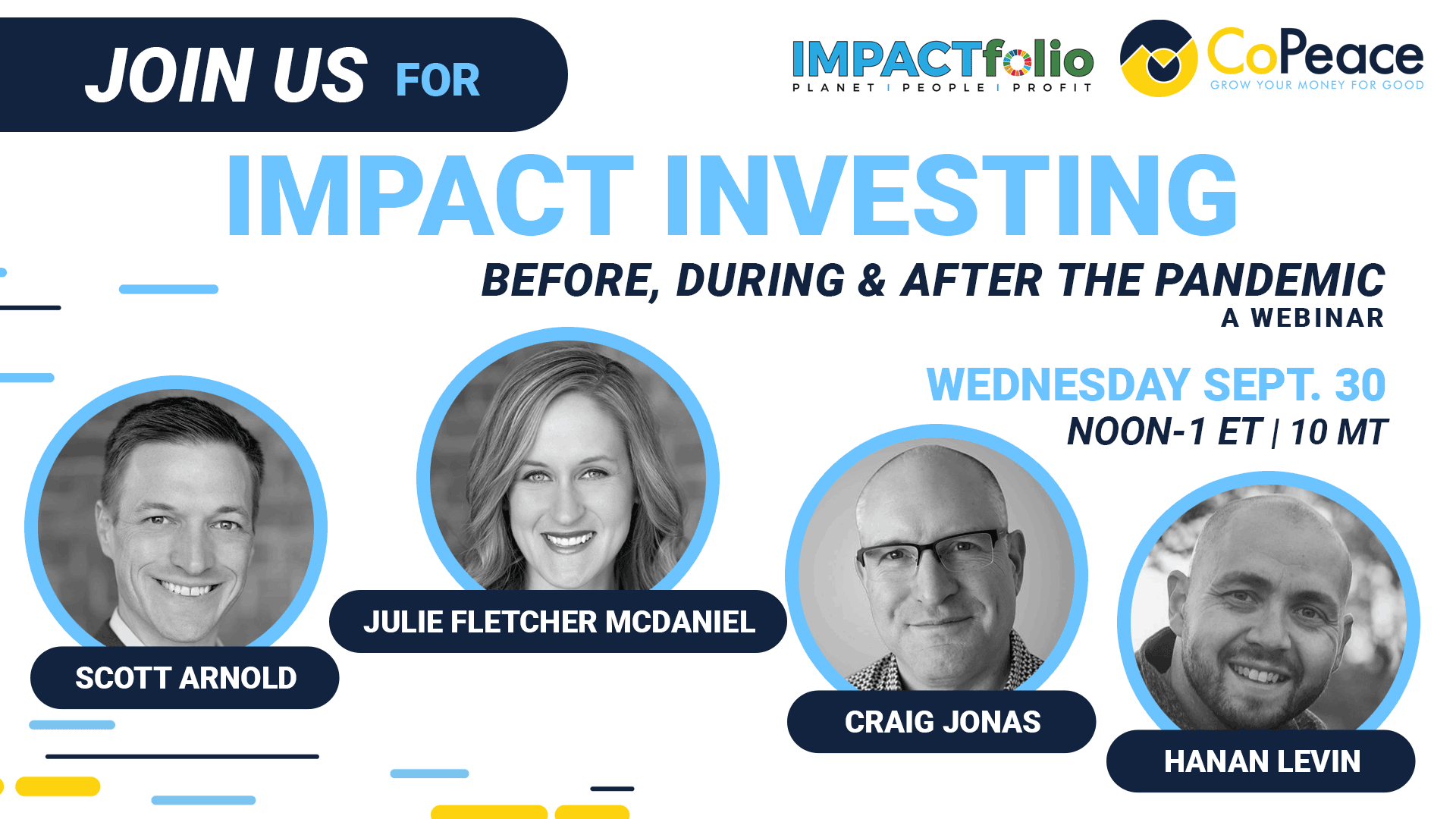 Please join us on September 30th to learn about Impact Investing: Before, During, and After the Pandemic Thumbnail