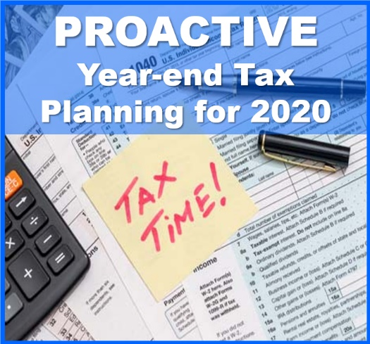 Proactive Year-end Tax Planning for 2020, Financial 1 WMG