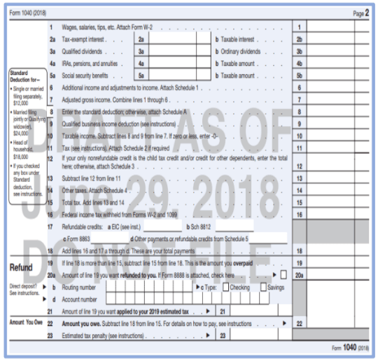Financial 1 - Draft Form 1040
