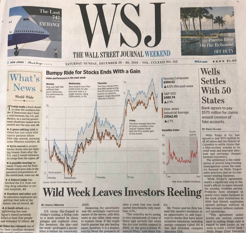 Financial 1 Wealth Management Group Wall Street Journal Feature