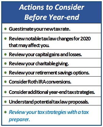 Actions to Consider Before Year-end, Financial 1 WMG