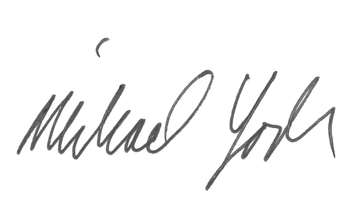 Michael Yoder signature Walnut Creek, CA Yoder Wealth Management