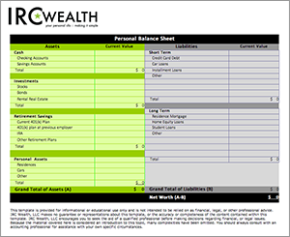 worksheets irc wealth
