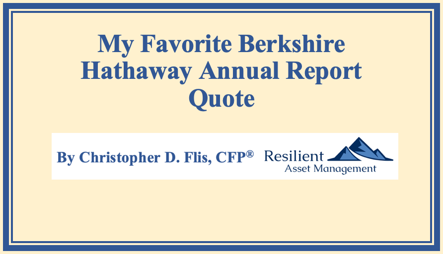 My Favorite Berkshire Hathaway Annual Report Quote Thumbnail