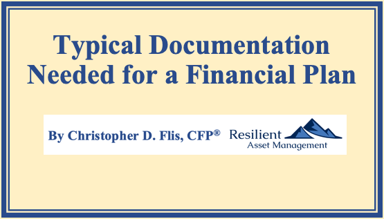 Typical Documentation Needed for a Financial Plan Thumbnail