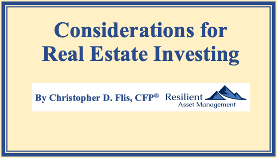 Considerations for Real Estate Investing Thumbnail