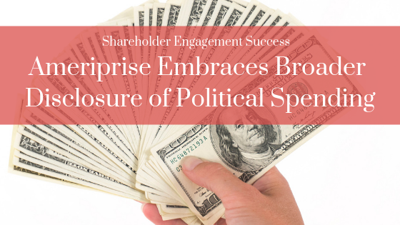 Press Release: Ameriprise Embraces Broader Disclosure of Political Spending Thumbnail