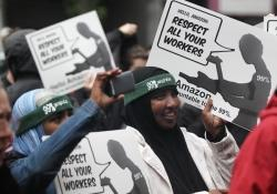"""Amazon shareholders met by protesters, company cuts ties with ALEC"" – Puget Sound Business Journal Thumbnail"