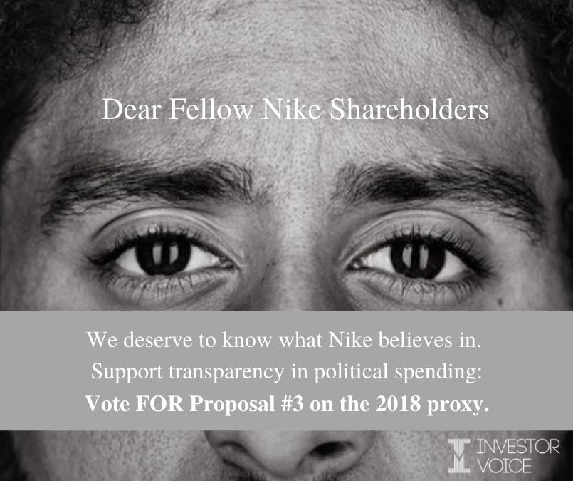 Shareholder Proposal to Nike on Disclosure of Political Spending Thumbnail