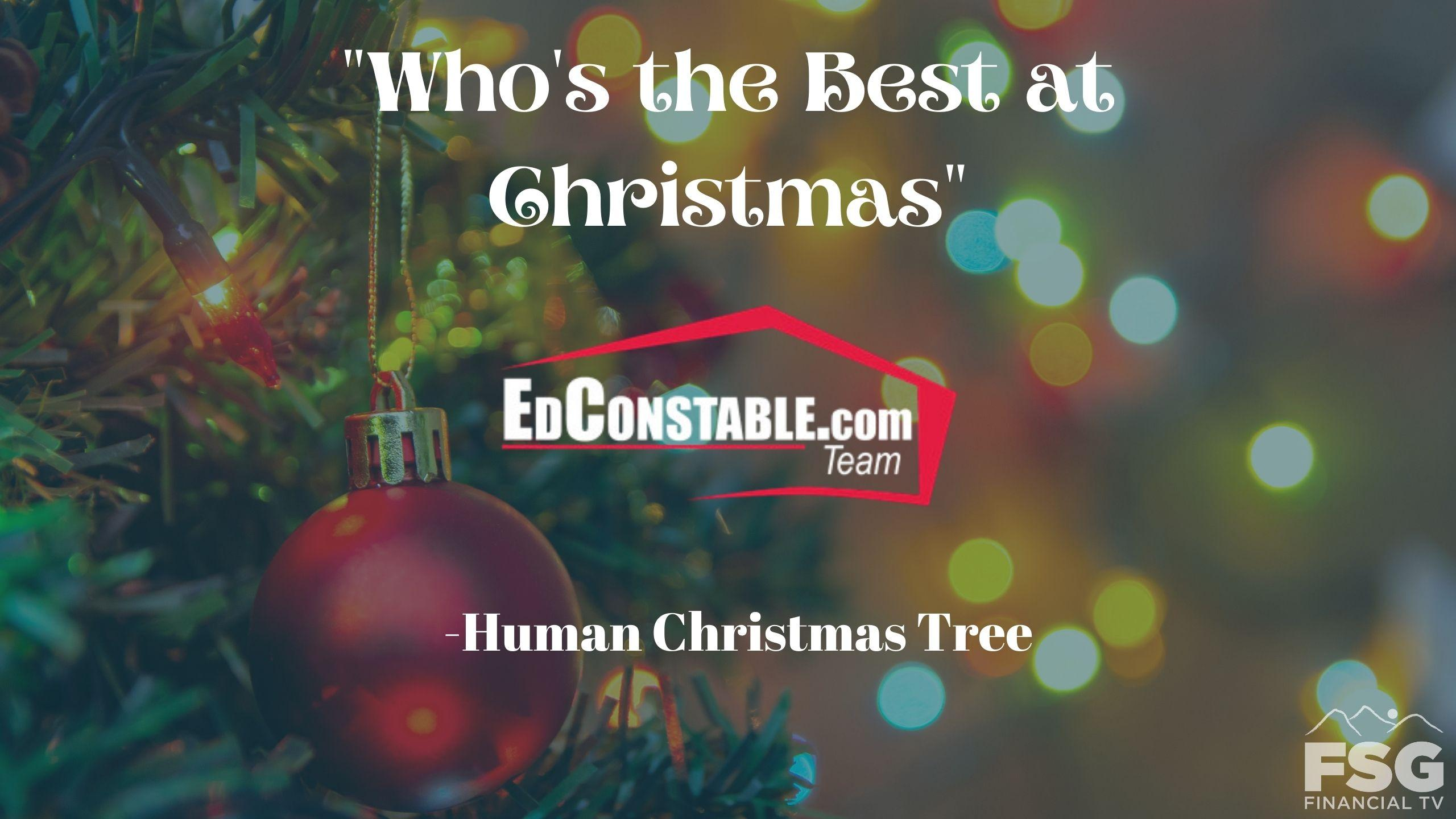 """Who's the Best at Christmas"" Human Christmas Tree- Ed Constable Team Thumbnail"
