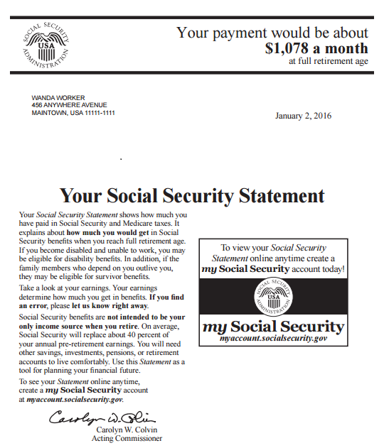 My Social Security Statement...What's That? Thumbnail