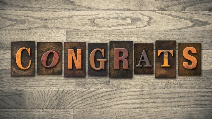 Congratulations Jonathon! Thumbnail