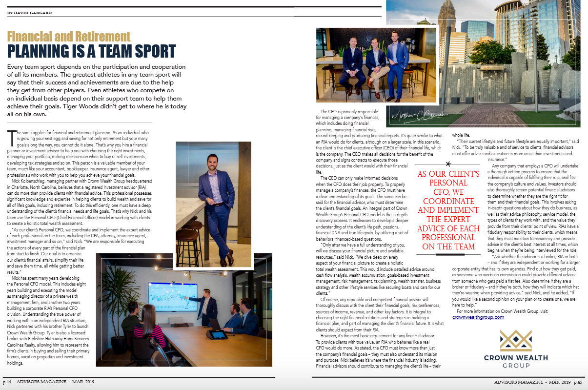 CWG Publication: Financial and Retirement Planning is a Team Sport Thumbnail