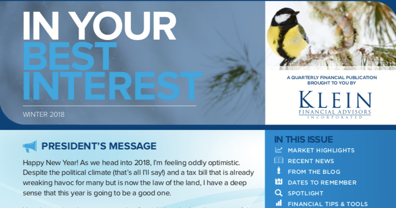 In Your Best Interest: Our Winter 2018 Newsletter Thumbnail