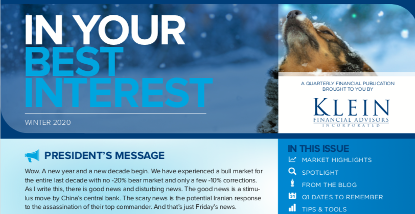 In Your Best Interest: Our Winter 2020 Newsletter Thumbnail