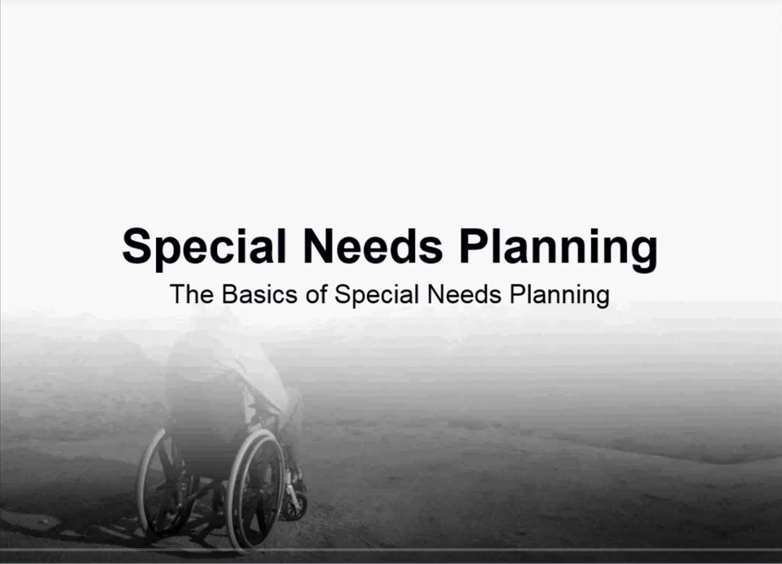 Special Needs Planning Webinar Thumbnail